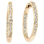 Red gold Diamond earrings with 40 diamonds (0.3ct)