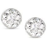 White gold studs with round, brilliant cut diamonds 3.4 mm (0.3ct)