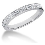 White gold Side-Stone Engagement ring with 13 diamonds (0.32ct)