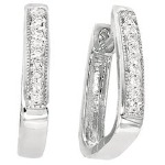 White gold Diamond earrings with 14 diamonds (0.14ct)