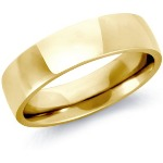 6mm Yellow gold Comfort Fit Wedding Band