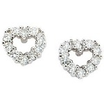 White gold Diamond earrings with 18 diamonds (0.36ct)
