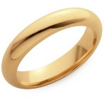 4mm Yellow gold Comfort Fit Wedding Band
