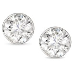 White gold studs with round, brilliant cut diamonds 4.8 mm (0.8ct)