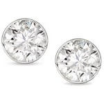 White gold studs with round, brilliant cut diamonds 3.0 mm (0.2ct)