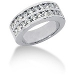 Platinum Side-Stone Engagement ring with 20 diamonds (1.2ct)