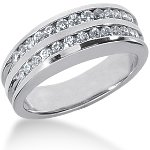 Palladium Side-Stone Engagement ring with 26 diamonds (0.52ct)